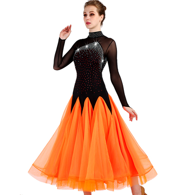 Ballroom Dance Dresses High-collar National Standard Dance Dresses, Modern Dance Dresses