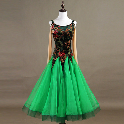 Ballroom Dance Dresses High-end velvet modern dance competition dress