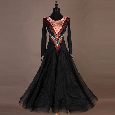 Ballroom Dance Dresses Modern Skirt, National Standard Dance Dress, Waltz Group Performance Costume
