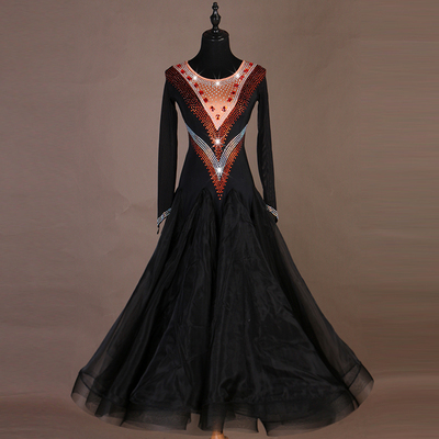 Insist on high quality! Modern Skirt, National Standard Dance Dress, Waltz Group Performance Costume