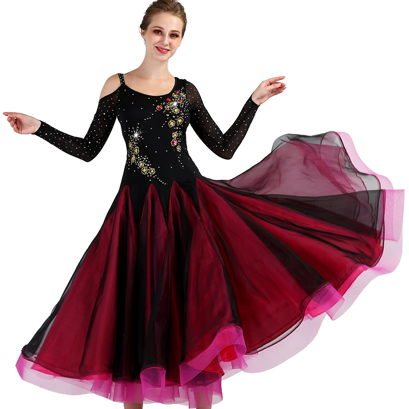Ballroom Dance Dresses Modern Dance Skirt Performance Competition National Ballroom Ballroom Dancing Big Swing Dress Waltz Ballroom Waltz Group Dance Skirt
