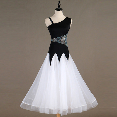 Ballroom Dance Dresses Light luxury flash drill! High-end modern dance competition dress, social dance group performance dress, national standard dance dress, new dress