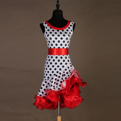 Flower skirt! Latin dress sexy three-step professional performance dress customizable for children