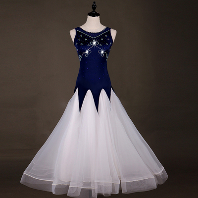 Van Modern Dance Competition in Europe and America Performing Clothes, Social Dance, Big Dress, Waltz Skirt, Slim and Slim