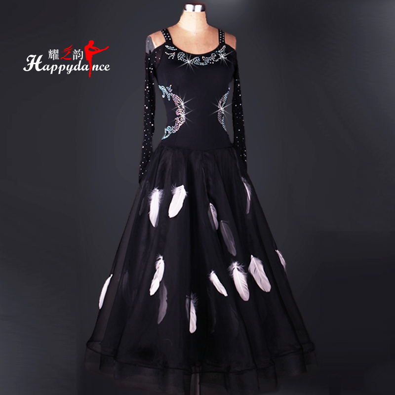 Ballroom Dance Dresses Ballroom Dance Big Dress Modern Skirt Competition Skirt National Standard Dance Dress Long Sleeve