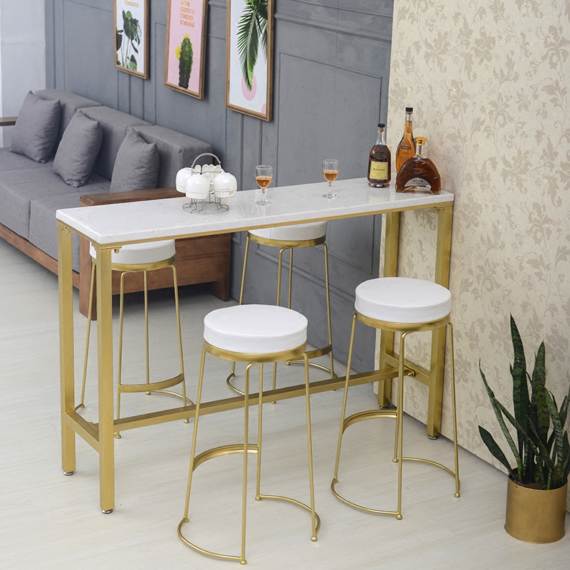 Nordic Creative Marble Bar Table Home Small Long Simple Modern Tables And Chairs High Against The Wall Narrow