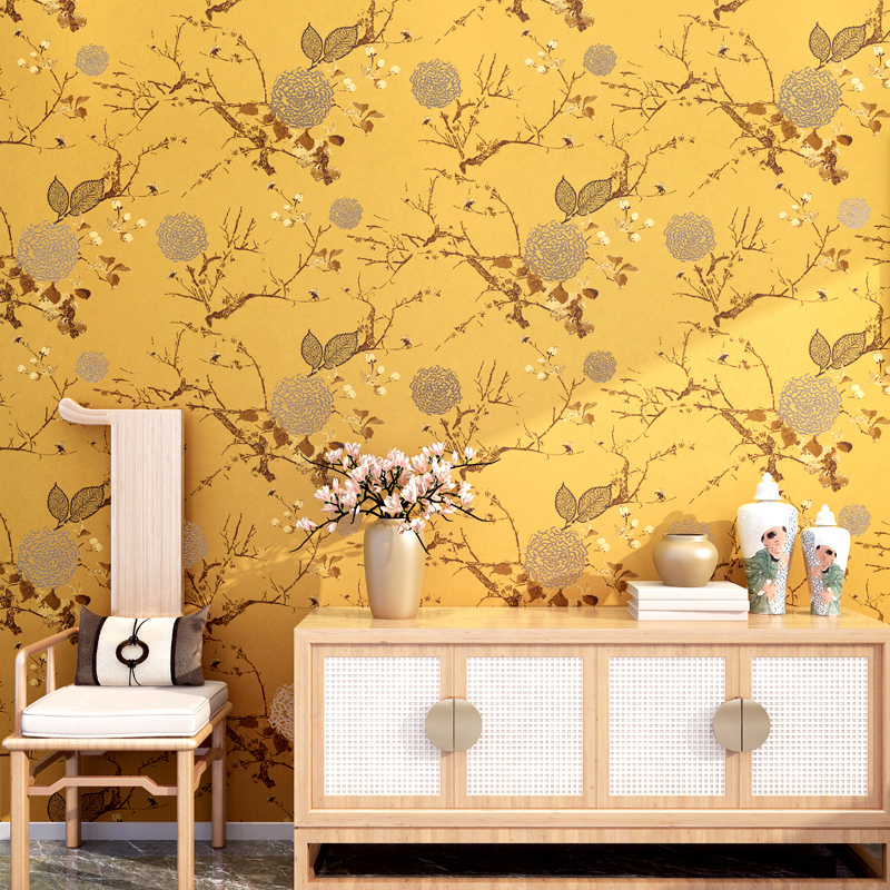 USD 29.30] Modern new Chinese wallpaper flowers and birds classical ...