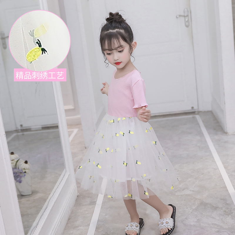 Girls summer dress 2019 New children's clothing little girl princess dress children summer style skirt Korean version of the tide