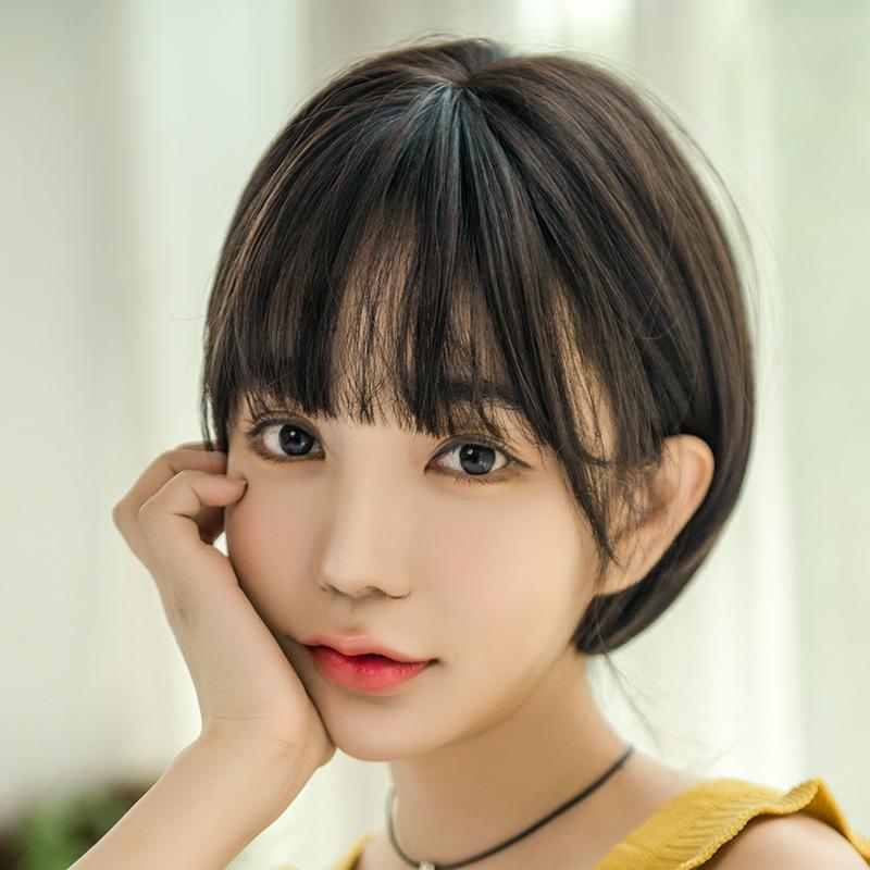 Usd 23 09 Wig Female Short Hair Round Face Bobo Set Korean Bobo