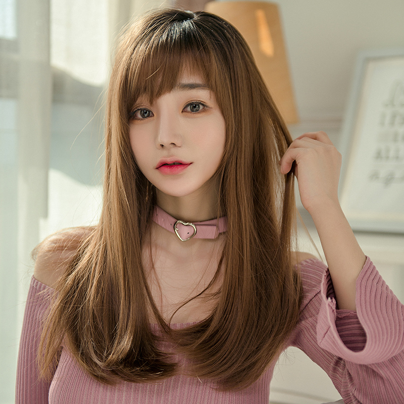 Usd 29 56 Wig Female Long Hair Straight Hair Invisible Round Face