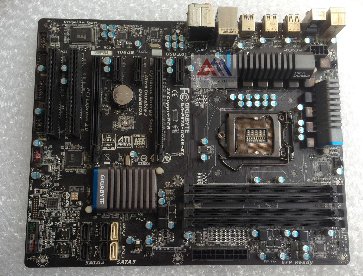 Gigabyte GA-UD3P P67A-UD3R-B3 all-solid 1155 3 USB3 14-phase power  overclocking large board