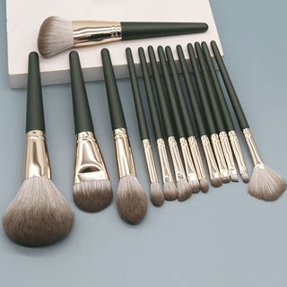 14 novice a full make-up brush set tool lip foundation brush loose paint brushes eye shadow giant soft animal hair