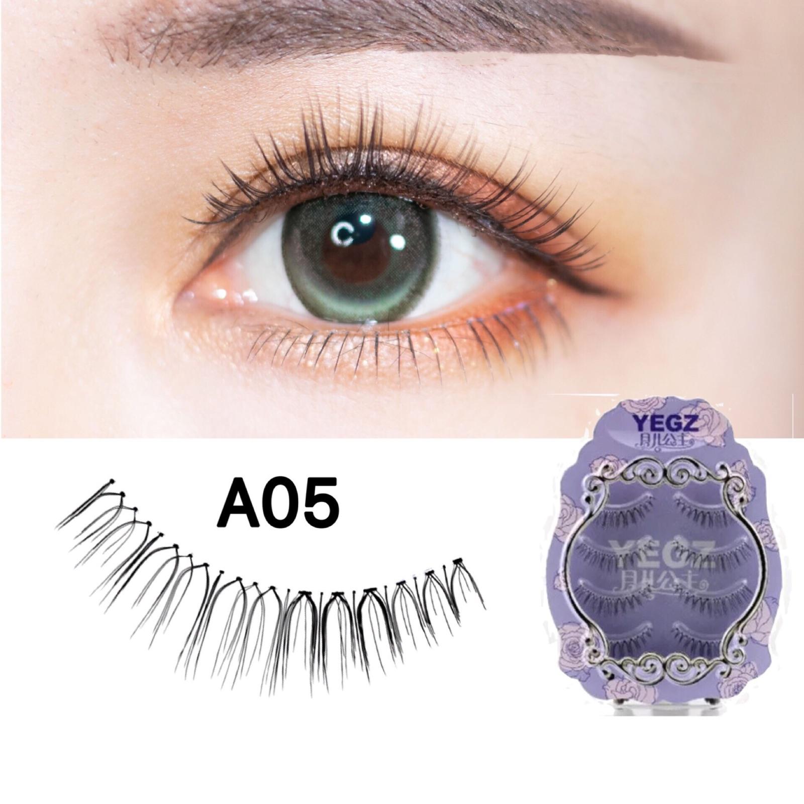 Yue Er Princess Lông mi giả A05 Cô dâu sắc sảo Trang điểm nghệ sĩ đặc biệt tự nhiên mắt ngây thơ mô phỏng Net lông mi đỏ - Lông mi giả