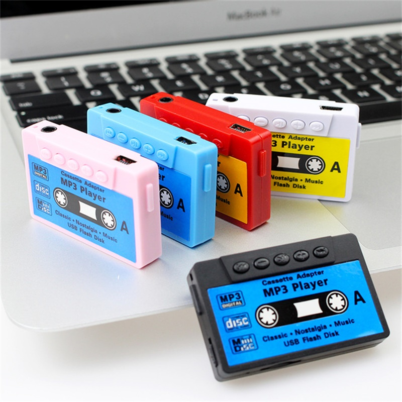 Classic nostalgic mini recorder tape card type MP3 player sports running songs