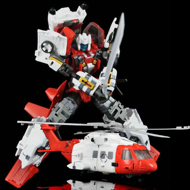 变形玩具金刚型模良品放大版热点守护神合体YM直升机救护车消防车详情图