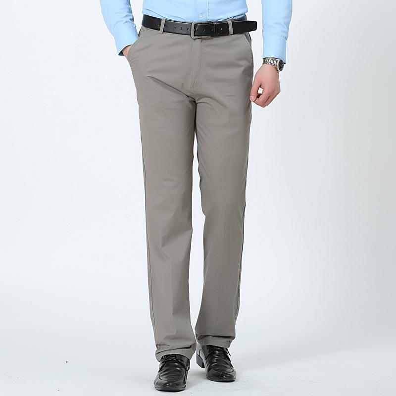 Mùa hè phần mỏng trung và cũ tuổi polyester của nam giới thường quần lỏng thẳng quần cha nam quần dài của nam giới làm việc quần