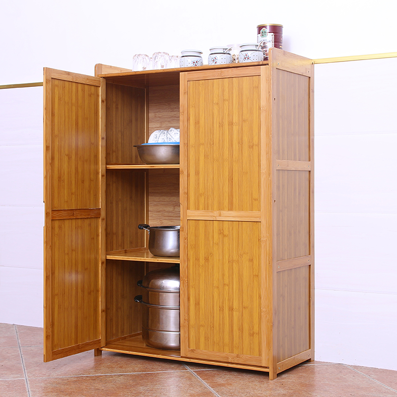 Usd 104 91 Kitchen Rack Microwave Oven Shelf Oven Kitchen Cabinet Floor Tableware Storage Rack Solid Wood Bamboo Cupboard Dishes Wholesale From China Online Shopping Buy Asian Products Online From The