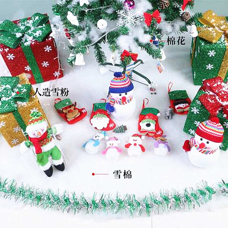 Chuanghang christmas scene layout simulation snow cotton simulation snow window scene snow background layout