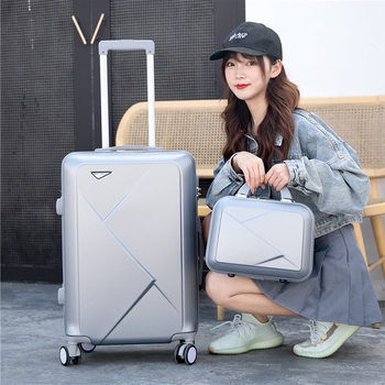 2019 new Korean version of the male and female luggage suitcase suitcase universal wheel trolley case hard shell simple color luggage