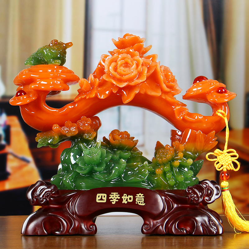Usd 5779 Jade Ruyi Chinese Peony Ornaments Wedding Home New Home