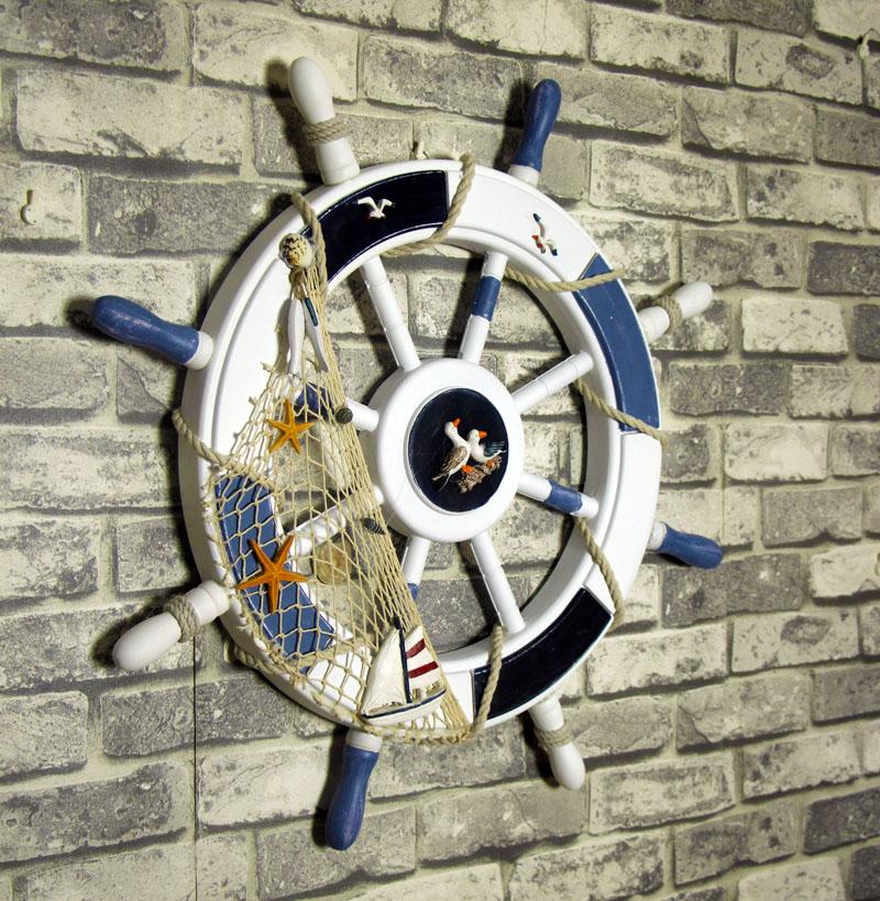〖洋碼頭〗地中海風格牆上裝飾品 歐式復古裝飾舵手 牆面牆壁掛飾 船舵壁飾 ayj141
