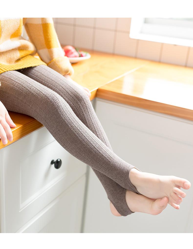 女童裤袜春秋冬天外穿加厚宝宝一体绒内搭裤儿童白色薄绒舞蹈袜详细照片
