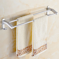 Free punch towel rack space aluminum bathroom towel rack bathroom towel rack lengthened single pole double towel bar