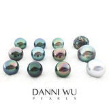 Tahitian black pearl 11mm natural perfect round naked pearl Tahitian pearl Miss DANNIWUPEARLS