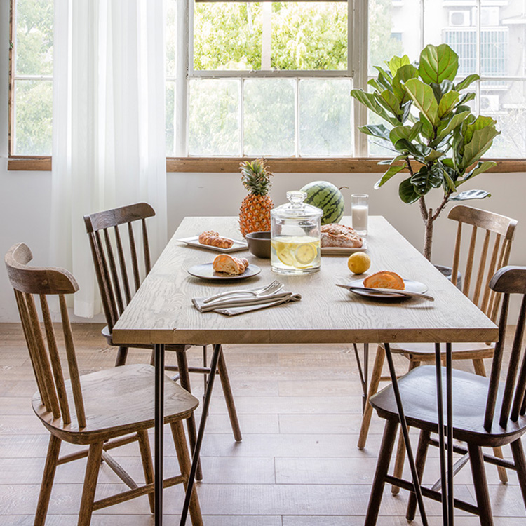 nordic dining table small color classification table 12080 75 wood color table 1408075 16080 18080 12 usd 5571 nordic dining home iron solid white ash