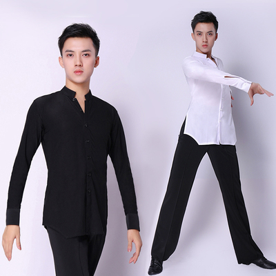 Latin Dance Shirts Ballroom Dance Shirts Adult Latin Modern Performance Dance Dress National Standard Gong Shirt