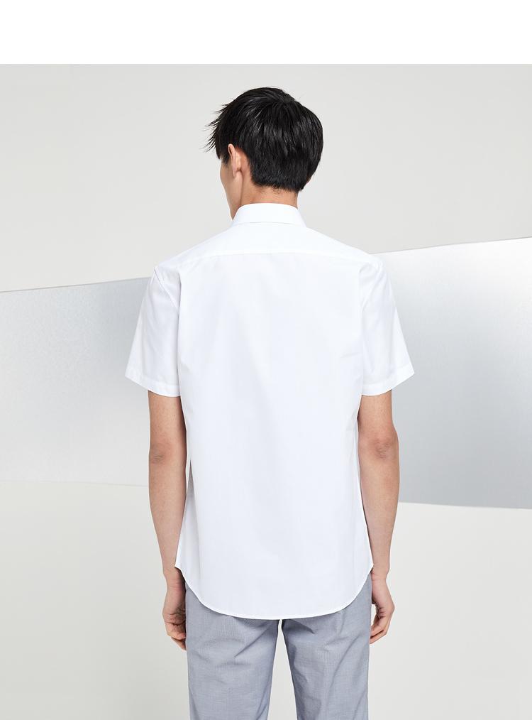 HLA Haishu Nhà đơn giản bầu không khí kinh doanh ngắn tay áo sơ mi 2018 mùa hè mới ngắn tay áo sơ mi nam sơ mi tay ngắn