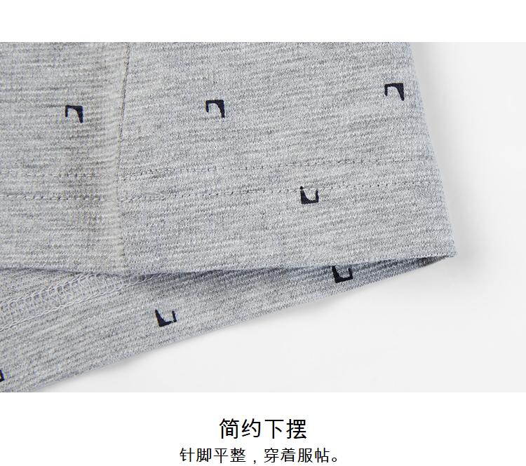 HLA sứa nhà ánh sáng màu xám pattern ngắn tay polo shirt 2018 mùa hè mới floral pattern ngắn tay T-Shirt nam áo phông polo nam