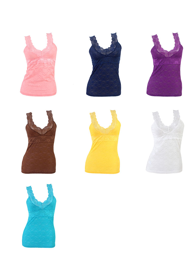 Women Lace Vest Top Bandeau Bra Stretch Comfortable Boob Tube Top Bra Vest Seamless 14