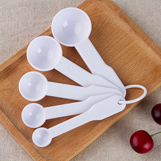 Household plastic spoon spoon oil, salt and seasoning powder kitchen bakeware spoon spoon size No. 5 set amount