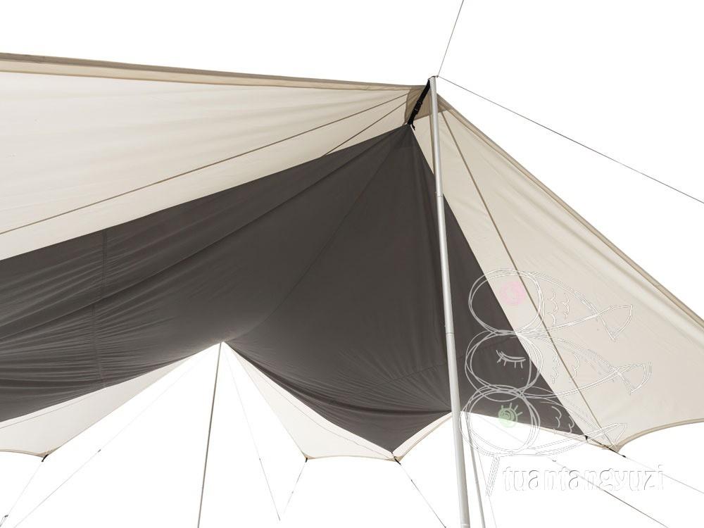 帳篷SnowPeak雪峰戶外露營天幕帳篷焚火方形防暴雨象牙白天幕帳TP-430