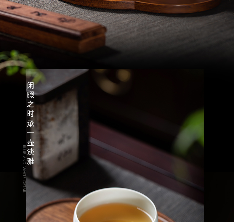 Owl up jingdezhen antique tea heavy industry alum red master cup court Taiwan ocean 's castle in the mountains and waters, CPU kung fu tea cups