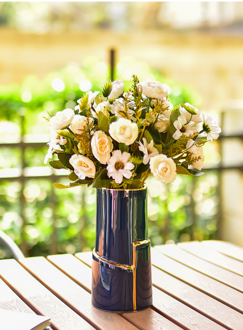 Modern light much creative ceramic vase contracted sitting room household soft outfit household act the role ofing is tasted furnishing articles European flower decoration