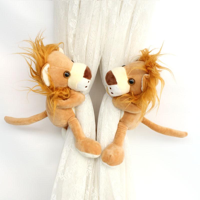 Подхват для штор Эффи Мэй домой братья животное занавес пряжки занавес ремешок творческий милый корейский стиль шторы связали цветок занавес веревку пару