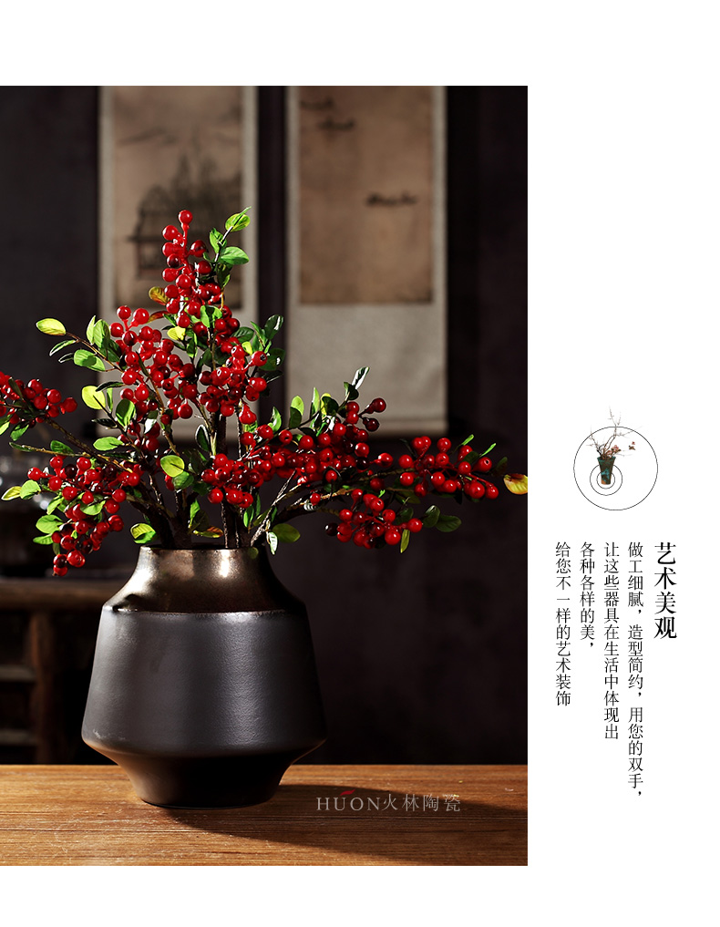 The New Chinese vase is placed between zen example ceramic creative living room TV cabinet porch dry flower arranging flowers adornment