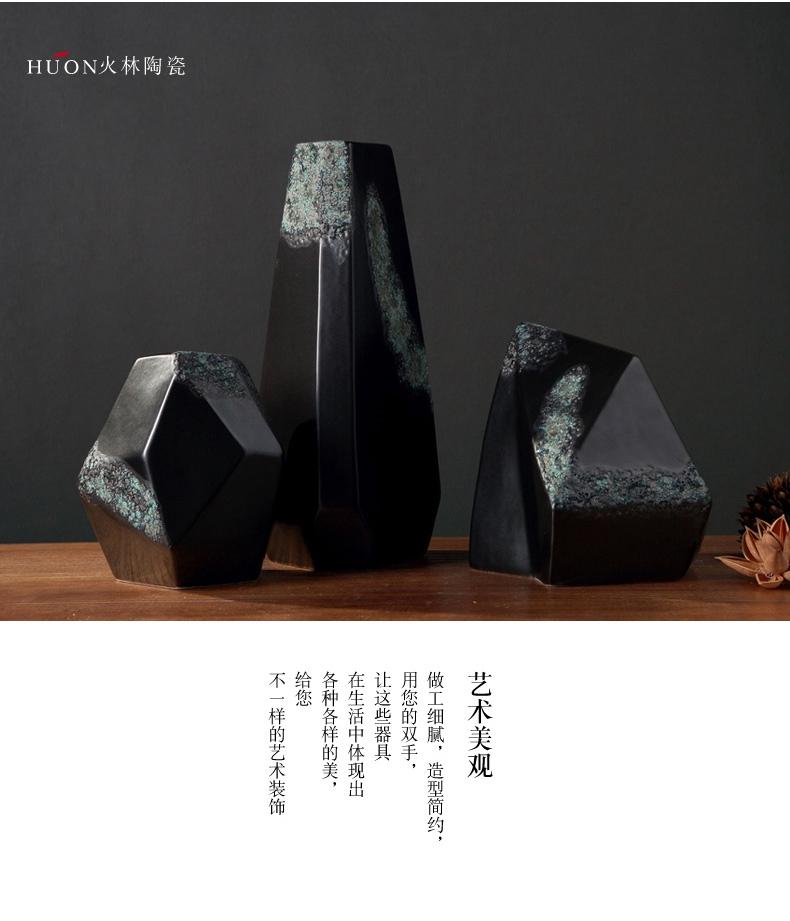 New Chinese style restoring ancient ways is coarse some ceramic porcelain zen furnishing articles creative sitting room aquarium imitation stone rockery black tea gardens