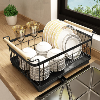 Nordic kitchen dish rack sink sink sink drain rack stainless steel countertop tableware storage shelf