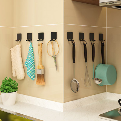 Kitchen free punching spatula hook wall rack spoon shovel storage rack wall-mounted multi-function rack
