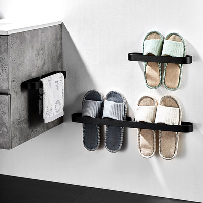 Bathroom slippers shelf wall hanging towel toilet drain rack toilet storage rack free punch toilet