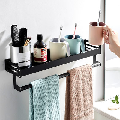 Nordic toothbrush rack free punching tooth cylinder rack wall-mounted bathroom mouthwash brushing cup shelf set wall-mounted