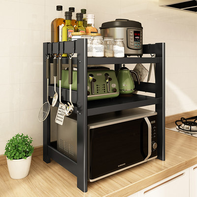Nordic kitchen microwave oven rack household countertop pot rack double oven rack seasoning supplies storage rack