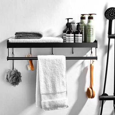 Nordic toilet bathroom racks free punch toilet toilet washstat Towels storage wall mounted