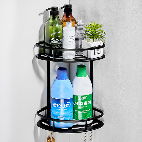 Bathroom Shelves Perforated-Free Toilets Wall-mounted Toilets Toilets Washing Tables Triangular Towel Storage Shelf