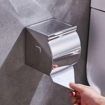 Bathroom toilet paper towel box exemption toilet carton toilet carton stainless steel hand paper box roll paper carrier paper box