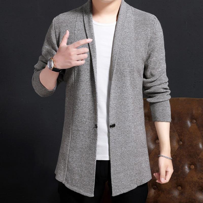 Áo len nam dài len áo len cardigan dài len áo len có sự khác biệt -0 - Áo len thể thao / dòng may
