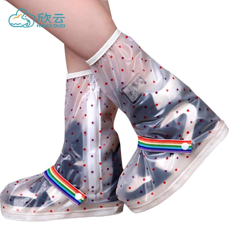 Outdoor Waterproof Shoe Cover Men And Women Non Slip Foot Cover Adult Students Rainy Day Rain Shoes Children Rain Shoes Thickening